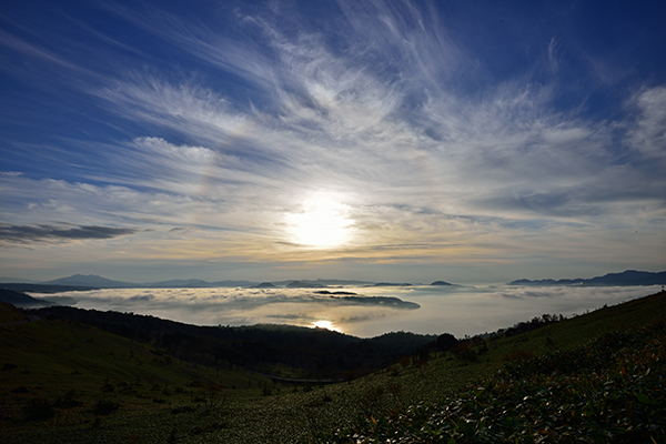美幌峠の朝焼け・雲海